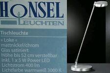 Honsel LED Tischleuchte Büroleuchte Nachttischlampe 93291 Loke mattnickel Chrom