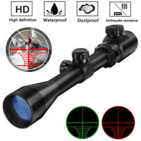 3-9x40 Scope Red Green Optical Sniper Rifle Scope Hunting Reticle Riflescope NEW
