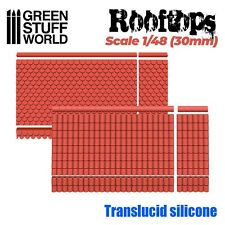 MOULES en Silicone - Toits 1/48 (30mm) - modélisme miniature résine 40k