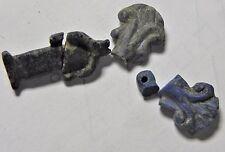 Zurqieh -Af1679- Ancient Egypt , New Kingdom. Lapis Lazuli, Broken Amulets. 1400