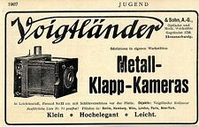 Braunschweig Voigtländer & Sohn Metall- Klapp- Kameras 9 x 12 Histor.Werbung1907