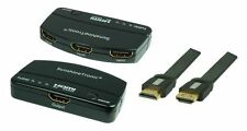 3x1 High Speed HDMI switch + 0,5m High Speed HDMI Cable plano FullHD 3d 1080p MS