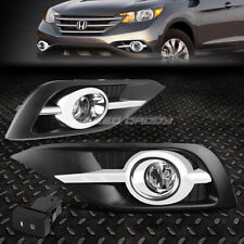 FOR 12-14 HONDA CRV/CR-V RM CLEAR LENS OE BUMPER DRIVING FOG LIGHT+BEZELS+SWITCH