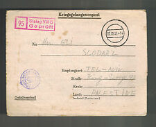 1943 Germany England Army POW Camp Ltr Cover Stalag 344 Palestine Josef Harari