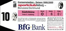 Ticket BL 1999/2000 SC Freiburg - Borussia Dortmund
