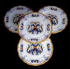 DERUTA POTTERY HAND PAINTED 4 RICCO DINNER PLATES