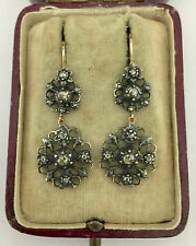 Cut Diamond Earrings Circa 1800's A Lovely Pair Of Georgian Rose