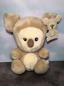 "NWT w/tush 2002 Brown Tan Harris Neopets Petpet Plushie Stuffed Animal 6"" koala"