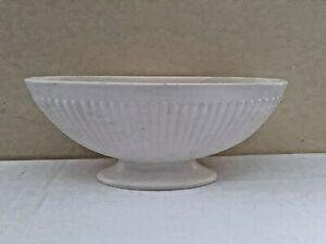 Wedgwood Of Etruria & Barlaston Creamware Oval Long Ribbed Vase