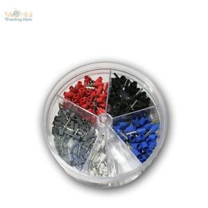 Sortiment Aderendhülsen in Streudose, isoliert, für 0,5 - 2,5 mm² Litze, Set