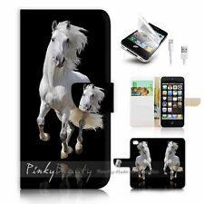 ( For iPhone 5 / 5S / SE ) Wallet Case Cover! P0824 Horse