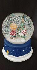 Peanuts Hallmark 50th Anniversary Charlie Brown & Snoopy Xmas Tree Snow Globe