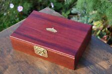 Bachmann Arrow Green Arrow Locomotive - Empty Wooden Box & 9ct Gold Name Plate