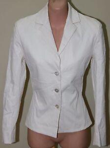 Womens Italian Ivory Designer Jacket - Antonio Berardi - Size 42