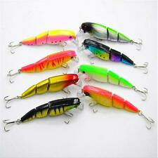 Multi-jointed Bass Pike Fishing Lure Crank Bait Swimbait Shad Minnow LE