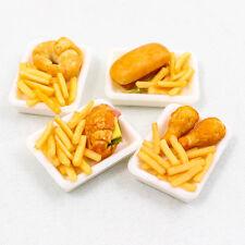 3PCS x Fried Fastfood Chicken Set 1:12 Miniature Dollhouse Handmade Food A1445