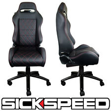 REAL RACING SEAT OFFICE CHAIR RECLINING LEATHER ADJUSTABLE SICKSPEED GAIJIN