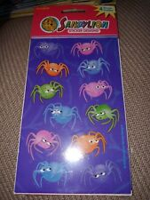 Vintage SANDYLION Stickers Spiders Halloween New in Package 4 Maxi Sheets