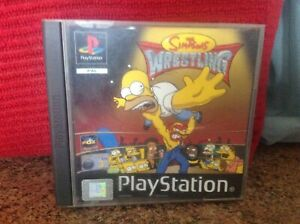 Playstation The Simpsons Wrestling Retro,  PAL, Used