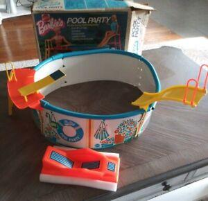 VTG '73 Mattel Barbie's Pool Party Pool Floating Lounge Slide Deck NOT COMPLETE
