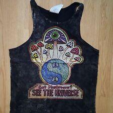 Psychedelic Rock Yoga Men Tank top Hippie Magic Mushroom New Love High Cotton M