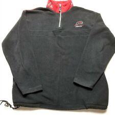 Vtg Perry Ellis America Mens Fleece Sweatshirt sz L Pullover 1/4 Zip Black G84