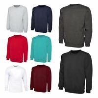 Mens Classic Raglan Fleece Sweatshirt Plain Long Sleeve Warm Jumper Sweater Tops