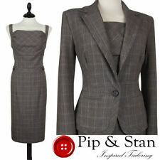 Jacket Check Dress Suits for Women