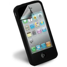 SCREEN PROTECTOR/SILICONE CASE SKIN F APPLE iPHONE 4 4G