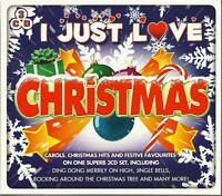 I JUST LOVE CHRISTMAS - 3 CD BOX SET - CAROLS, HITS & FESTIVE FAVOURITES