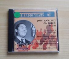 JUSSI BJOERLING ON RADIO VOL.III - CD SIGILLATO (SEALED)