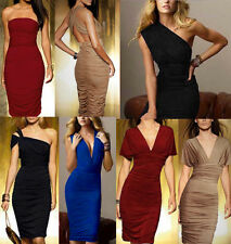 Womens Convertible Stretch Multi Way Bodycon Ruched Party Cocktail Holiday Dress
