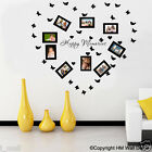 9 Photo frames & 32 Butterflies, DIY Removable Wall Decal for home / business