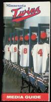1984 Minnesota Twins Baseball Media Guide