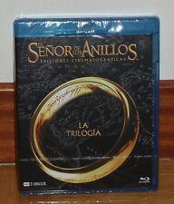 TRILOGIA EL SEÑOR DE LOS ANILLOS-LORD OF THE RINGS-3 BLU-RAY-NUEVO-NEW-SIN ABRIR