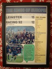 More details for leinster 15 racing 92 12 - 2018 european champions cup final - framed print