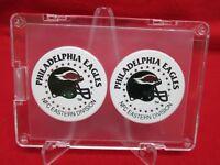 1993 PHILADELPHIA EAGLES Laserfom Team NFL pogs set FRAMED!