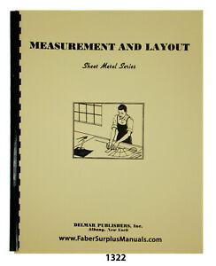 Sheet Metal Working Series Measurement & Layout Instruction Manual #1322