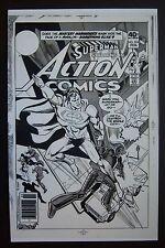 Original Production Art ACTION COMICS #504 cover, ROSS ANDRU art