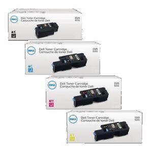 4 x Original Toner DELL E525 E525w / DPV4T H5WFX G20VW 3581G Cartridges Set