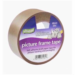 6 x Ultratape Rhino Picture Frame Craft Paper Framing Backing Tape 48mm x 50m