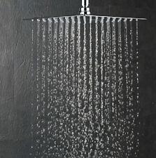 """8"""" Lusso Ultra Sottile in Acciaio Inox SPRAY Soffione della Doccia Pioggia Bagno Cromo"""