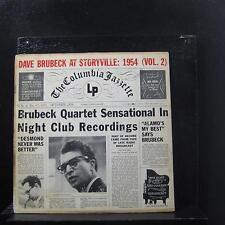 "The Dave Brubeck Quartet - At Storyville: 1954 (Vol. 2) LP 10"" VG CL 6331 1st"