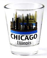 CHICAGO ILLINOIS SILHOUETTE SKYLINE SHOT GLASS SHOTGLASS