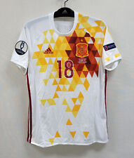 EURO 2016 Spain Away S/S No.18 Jordi ALBA Match ITALY ver