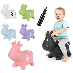 Hoppimals Space Hopper Jumping Inflatable Toy Cow Active Kids Baby Motor Skills