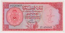 Libya Libyan Banknote 1/4 Pound 1963 P23a UNC Rare  King Idris Era First Issue