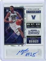 Mikal Bridges 2018-19 Panini Contenders Draft *RC Cracked Ice #/23 Variation C*
