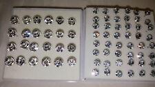 Joblot 36 pairs 5 mm & 7.5 mm Hypoallergenic Diamante stud Earrings - Wholesale