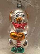 Vintage Antique Dog Pig Glass Christmas Ornament German Germany ? Mercury